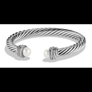 David Yurman large cable bracelet pearls&diamonds